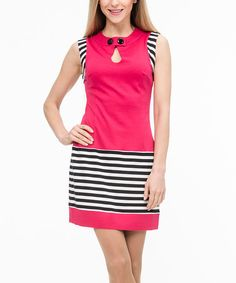 Loving this Crimson Stripe Sleeveless Dress on #zulily! #zulilyfinds