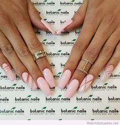 Botanic nails light pink long nails