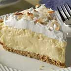 Easy Coconut Cream Pie-just 5 ingredients and 10 minutes to prepare.
