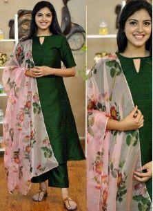 Plain Kurti Designs, Silk Kurti Designs, Simple Kurta Designs, Kurta Designs Women, Kurti Designs Party Wear, Salwar Designs, Long Dress Design, Dress Neck Designs, Stylish Dress Designs