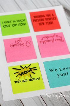 How to print on Post-it notes. A great stocking stuffer idea! #postit #printing #printingideas
