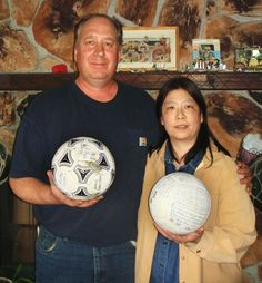 David Baxter found this soccer ball in Alaska...it had travelled all the way from Japan..lost with the tsunami!