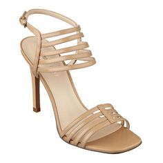 """Need a quick chic fix? Our Katherena strappy open toe sandals are waiting to take you from day into evening. Adjustable buckle closure. Padded footbed for all-day comfort. Leather upper. Man-made lining and sole. Imported. 3 3/4"""" heel. Women's shoes. Open toe sandals.  As seen in the April issue of Teen Vogue."""