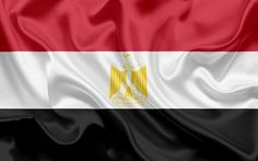 Download wallpapers Egyptian flag, Egypt, Africa, flag of Egypt, silk flag