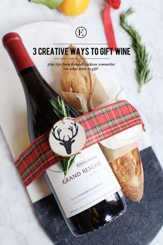 Ditch the Wine Bag: 3 Ways to Spruce Up Your Wine Gift #theeverygirl