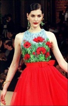 Lesage embroidery for Yves Saint Laurent haute couture Couture Embroidery, Embroidery Dress, Tambour Embroidery, Vintage Vogue, Vintage Fashion, Yves Saint Laurent, Manequin, Evening Dresses, Formal Dresses