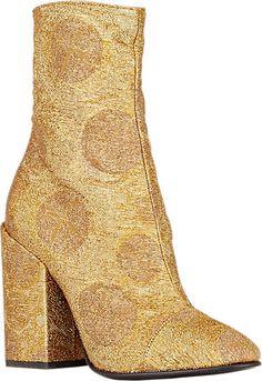 Dries Van Noten Jacquard Cap-Toe Boots - Ankle Boots - Barneys.com