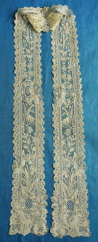 My choice for best lace from the 10/5/2013 Ebay Alerts. A narrow scarf of Point de Gaze.