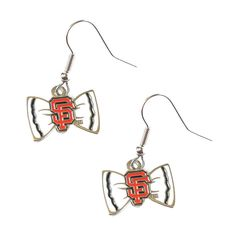 San Francisco Giants Team Logo Bow Tie Earring Charm Gift Set