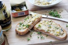 """A delicious recipe with French sardines is this """"ointment"""", delicious on french bread.   Boil the eggs for ten minutes, let them cool down and remove the yolks. Put the yolks with the sardines and the remaining ingredients in a bowl. Mash with a fork and mix well. If necessary, add a little oil if the spread is too dry. Serve on French bread with some chopped parsley or cress."""