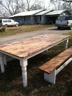 Pine Farmhouse (Harvest) Dining Table