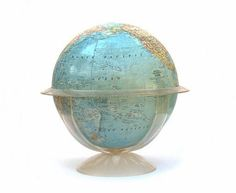 vintage mid-century 1960s world globe lucite base by 4140home