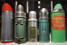 I started collecting vintage coffee Thermos a few years back just because. why else? HA!