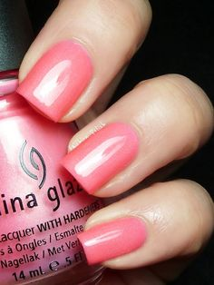 China Glaze Pink Plumeria (Summer Neons collection).