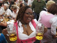 go to Oktoberfest in Munich, dressed in a dirndl (never omit the obvious) Beer Girl, Classy Women, Looking For Women, Black Girls, Light In The Dark, Looks Great, Short Hair Styles, Boobs, Slim