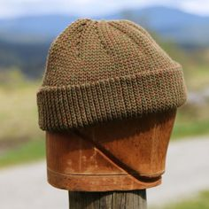 Khaki wool watch cap Canadian toque wool seafarers by UpthePitt da4b4740c72