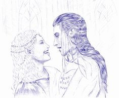 Celebrían & Elrond by Gregory Volk