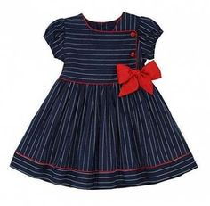 online shopping for Marakitas Toddler & Girl Party Special Occasion Short Sleeve Spring Sailor Dress Navy Blue from top store. See new offer for Marakitas Toddler & Girl Party Special Occasion Short Sleeve Spring Sailor Dress Navy Blue Baby Girl Frocks, Frocks For Girls, Little Girl Dresses, Girls Dresses, Trendy Dresses, Girls Frock Design, Baby Dress Design, Toddler Dress, Toddler Outfits