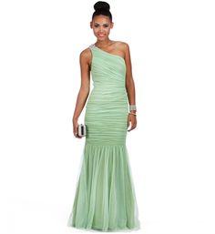 Eliana- Sage Single Shoulder Prom Dress .... HMMMM??? IDK!