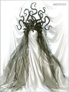 Medusa headpiece // Another depiction produced by the fashion industry of Medusa's hideous head of snakes.