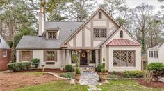 Pool House With Tudor Style Stucco Base Color And Trim Lighter Exterior Pinterest Tudor