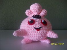 COMPLETED: 42 GOAL: 649     Materials:  crochet hook, light pink and black yarn, red, black and white felt  Body: With pink, 6 sc in magic c...
