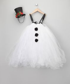 White Snow Baby Dress & Top Hat - Infant & Toddler