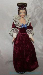 1996 Barbie VICTORIAN VALENTINE Doll Wine Velvet & Lace Gown w/Hat DOWNTON ABBEY