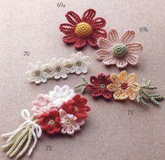 Lace crochet best pattern № 124 2014 by MinjaB - issuu Cute Crochet, Irish Crochet, Crochet Yarn, Crochet Stitches, Crochet Butterfly, Crochet Flower Patterns, Crochet Flowers, Yarn Flowers, Tiny Flowers