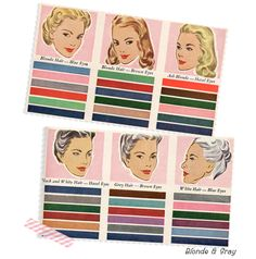 1947 color pallet for your type...I know there were Redheads in 1947. Two of them were my Aunts!