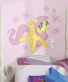This Fluttershy Giant Wall Decals by My Little Pony is perfect! #zulilyfinds