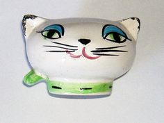 1950S/1960S CAT MONEY BOX ceramic sixpence by allthingsvintage77