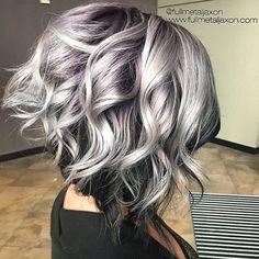 Hairstyles for silver hair hottest curly lob hairstyle silver to black hair color messy 2018 long hair trends, Hairstyles For Silver Hair, brilliant Trendy Hair Cuts inspiration Curly Lob, Curly Hair Styles, Updo Curly, Hair Color For Black Hair, Black And Silver Hair, Grey Hair Colors, Gray Color, Silver Ombre Short Hair, Silver Color