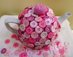 All buttoned up Tea Cosy Jenny Occleshaw