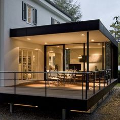 Detached house Krailling object steel structure, terrace with railing, facade . Single-family house Krailling Object steel structure, terrace with railing, facade cladding Archite House Extension Design, Extension Designs, Glass Extension, Balkon Design, Terrace Design, Building Facade, Steel Structure, House Extensions, Facade House