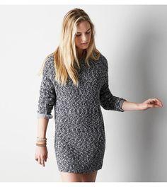 Black AEO Marled Sweater Dress