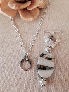Abalone Beaded Dangle Necklace #2
