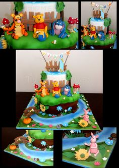 Winnie the pooh and Friends. Every figurines hand made. One of my favorite projects, I felt like a child for a moment.