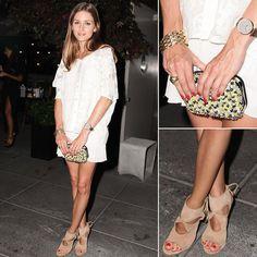 @Olivia Palermo accessorizing with Zara and Aquazzura