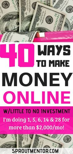 40 ways to make money online from home. All these are perfect passive income ideas and side hustles