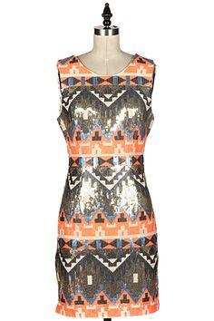 HOLIDAY SEQUIN DRESS  5C-58083D-B  shopfashionomics.com