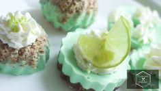 key lime mini tartes #low carb #glutenfree. If you're a lover of lime flavored goodness then this treat will win you over. It's light and serves a bunch so take this to your next cookout this summer!