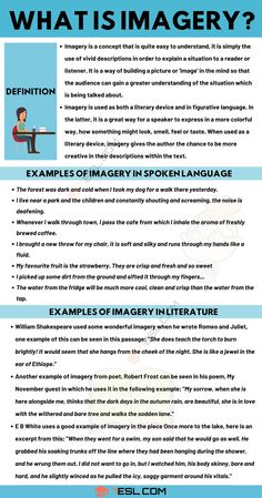 Imagery: Definition and Useful Examples of Imagery in Spoken Language and Literature Essay Writing Skills, English Writing Skills, Book Writing Tips, Writing Words, Academic Writing, Teaching English, Learn English, English Class, Teaching Literature