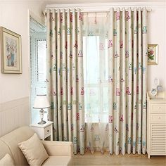 Balight Owl Thermal Insulated Treatment Blackout Curtains Drapes