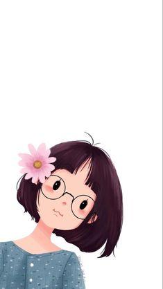 Cute Girl Wallpaper, Cute Disney Wallpaper, Cute Cartoon Wallpapers, Cute Cartoon Pictures, Cartoon Pics, Cartoon Girl Drawing, Cartoon Drawings, Art Drawings For Kids, Cute Drawings