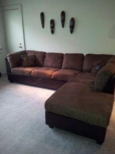 Espresso Couch--Mint Condition (L-shape)