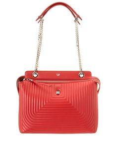 FENDI Fendi Dotcom Click Quilted Leather Chain Satchel'. #fendi #bags #shoulder bags #hand bags #leather #satchel #lining #