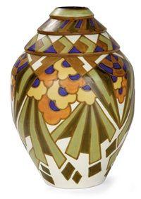 Vase ovoïde by Charles Catteau and Keramis