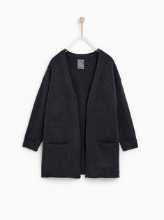 Image 1 of BASIC KNIT CARDIGAN from Zara Fashion Kids, Baby Girl Fashion, Knit Jacket, Knit Cardigan, New Girl, Kind Mode, Kids Girls, Autumn Winter Fashion, Zara