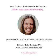 I have never met a more enthusiastic social media expert like Julia. She loves what she does, and does it well. Read out interview and become inspired!